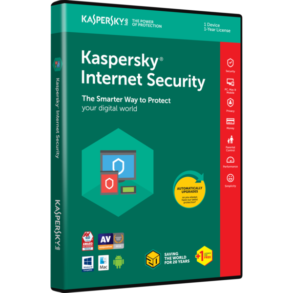Kaspersky Internet Security Multi-Device- 1DT_1Y_R